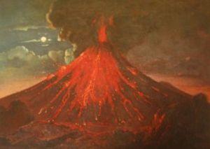 raden saleh-gunung meletus