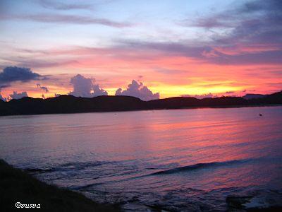 Tanjung Aan-matahari terbenam