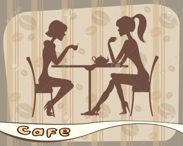 9915468-Silhouettes-of-women-sitting-in-cafe--Stock-Vector-cafe-coffee-cartoon