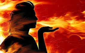 gadis berkawan dengan api