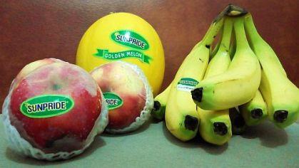 Golden melon, pisang cavendish dan apel Malang
