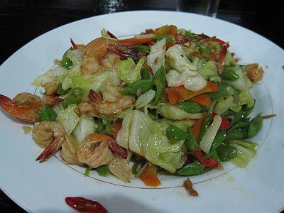 tumis sayuran-udang