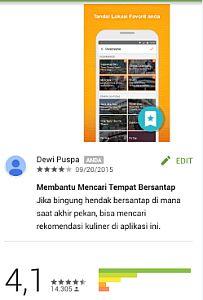 Rating Aplikasi Opensnap