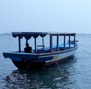 Kapal nelayan dari Muara Kamal