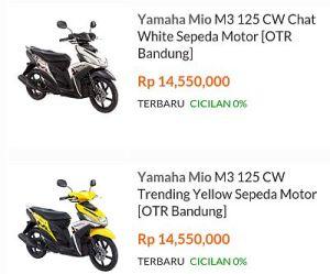 Aneka Varian Yamaha Mio M3 125 CW