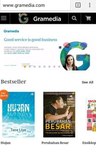 Logo Baru yang Ceria dan Segar Juga Terpampang di Gramedia Online