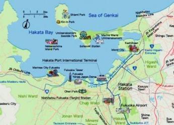 Peta Kota Fujioka (Sumber: yokanavi.com)