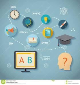 Dengan TIK dan akses internet maka siswa dapat belajar kapan saja dan dimana saja (gambar dari dreamstime)