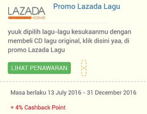 Promo Lazada di Shop Page di Excite Shop