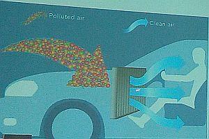 Asap dan bau ternyata bisa masuk kabin mobil