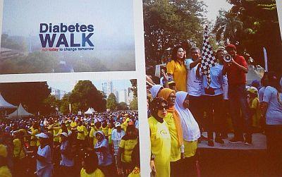 Gerak jalan memperingati hari diabetes internasional