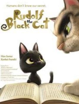 Poster rudolf black cat