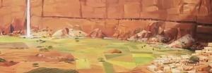 Desa di dalam tebing