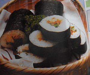 Kimbap mirip sushi (sumber: buku cara cepat memaasak ala Korea)