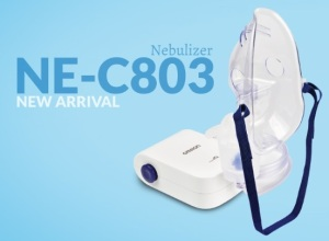 Nebulizer portabel yang ringan dan portabel (dok. Omron Nebulizer)