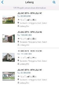 Daftar Rumah Lelang
