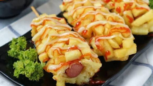 Hotdog kentang yang sedap