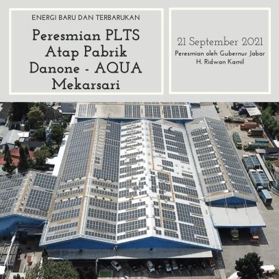 Peresmian PLTS Atap Pabrik AQUA Mekarsari